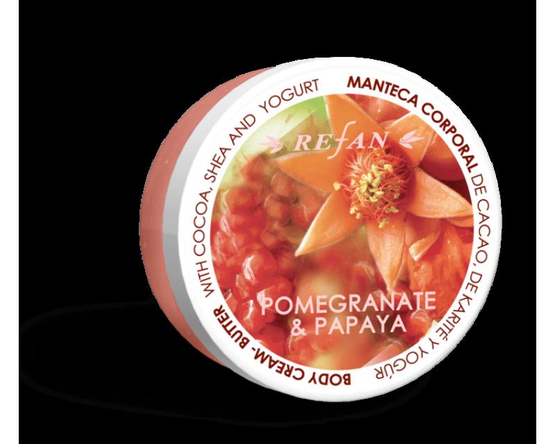 Maslový krém na telo - Granátové jablko a papája