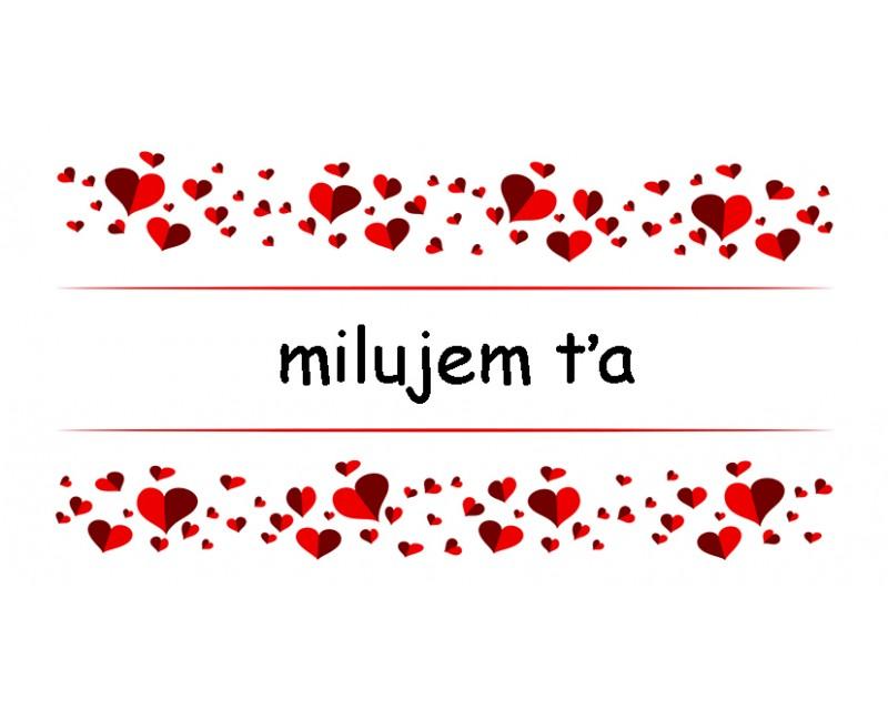 Etiketa s venovaním Milujem ťa