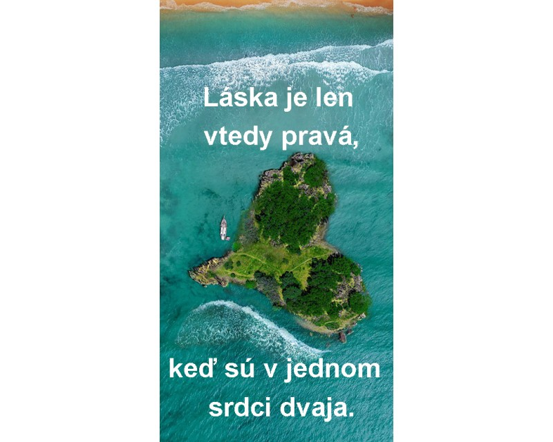 Etiketa s venovaním z lásky ostrov
